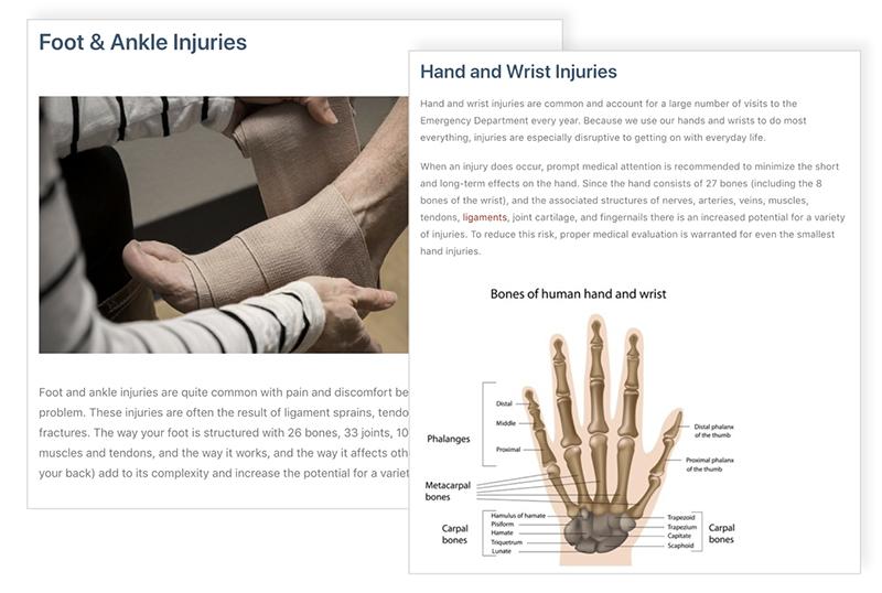 Numana Medical Orthopedics Content Marketing